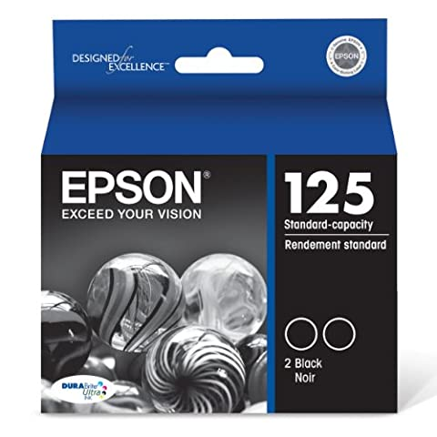 Epson T125120-D2 DURABrite Ultra Black Dual Pack Standard Capacity Cartridge Ink (Epson Wf 520 Black)