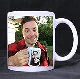 Novelty Design Custom Jimmy Fallon & Justin Timberlake Mug 11 Oz White Coffee Mug Tea Cup Twin Sides Printing-0378