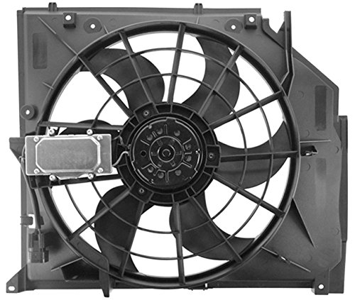TOPAZ 17117561757 E46 Radiator Cooling Fan Assembly for BMW 323i 325i 325xi 328i (Bmw 325i Radiator Replacement)