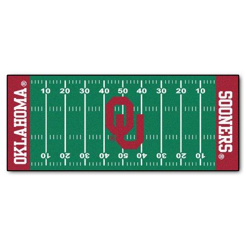 (FANMATS NCAA University of Oklahoma Sooners Nylon Face Football Field Runner)