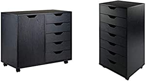 Winsome Wood Halifax Storage/Organization, Black & Halifax Storage/Organization 7 Drawer Black
