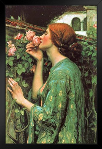 - John William Waterhouse The Soul Of The Rose Art Print Framed Poster by ProFrames 14x20 inch