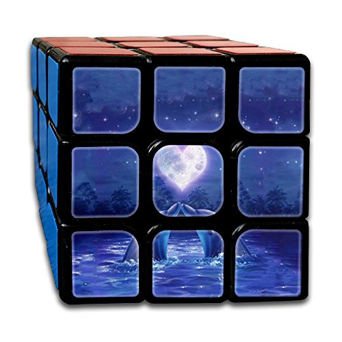 AVABAODAN Dolphins Couples Rubik's Cube Custom 3x3x3 Magic Square Puzzles Game Portable Toys-Anti Stress For Anti-anxiety Adults Kids by AVABAODAN