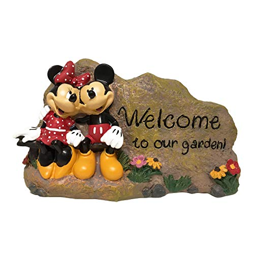 (The Galway Company Mickey & Minnie Mouse Outdoor Garden Rock, Stands 5 Inches Tall by 7.5 Inches Wide. Hand-Painted, Official Disney Licensed)