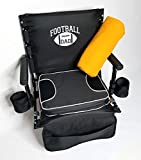 SAME DAY SHIPPING--Oasis FOOTBALL DAD Folding Stadium Chair-w/ REMOVABLE CUSHION--HEAVY DUTY--CELL PHONE and DRINK HOLDERS--A BONUS BLANKET INCLUDED...