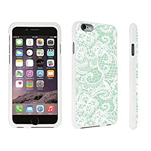 DuroCase ? Apple iPhone 6 Plus - 5.5 inch Hard Case White - (Lace Flower Mint)