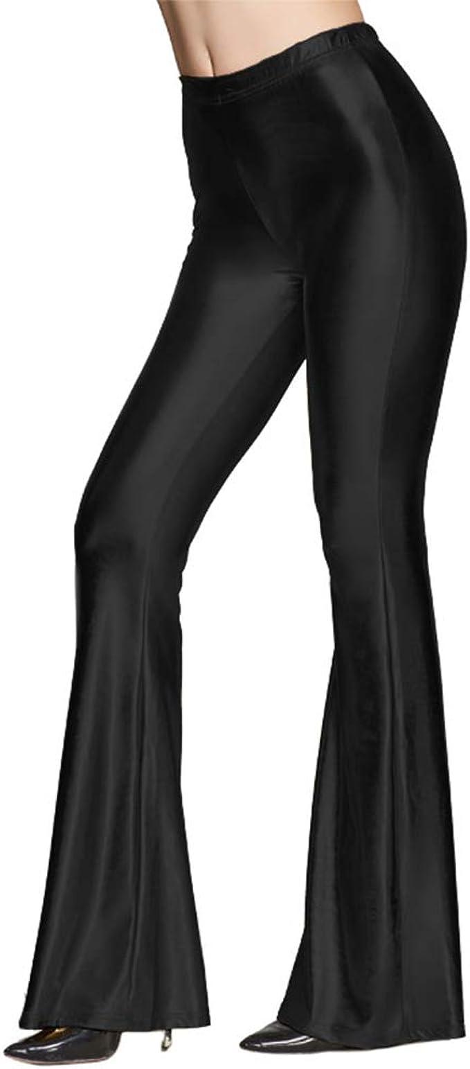 Amazon.com: Leggings metálicos brillantes para mujer, largos ...