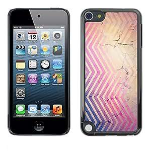 Estuche Cubierta Shell Smartphone estuche protector duro para el teléfono móvil Caso Apple iPod Touch 5 / CECELL Phone case / / Cracked Pink Blue Brown Red /