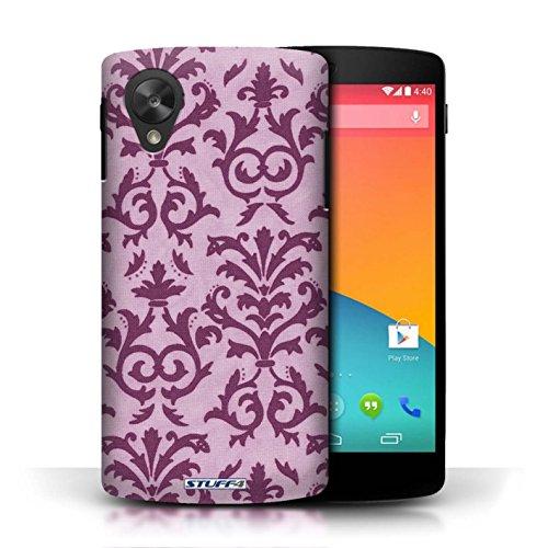Etui pour LG Google Nexus 5/D821 / Rose conception / Collection de Motif de défilement