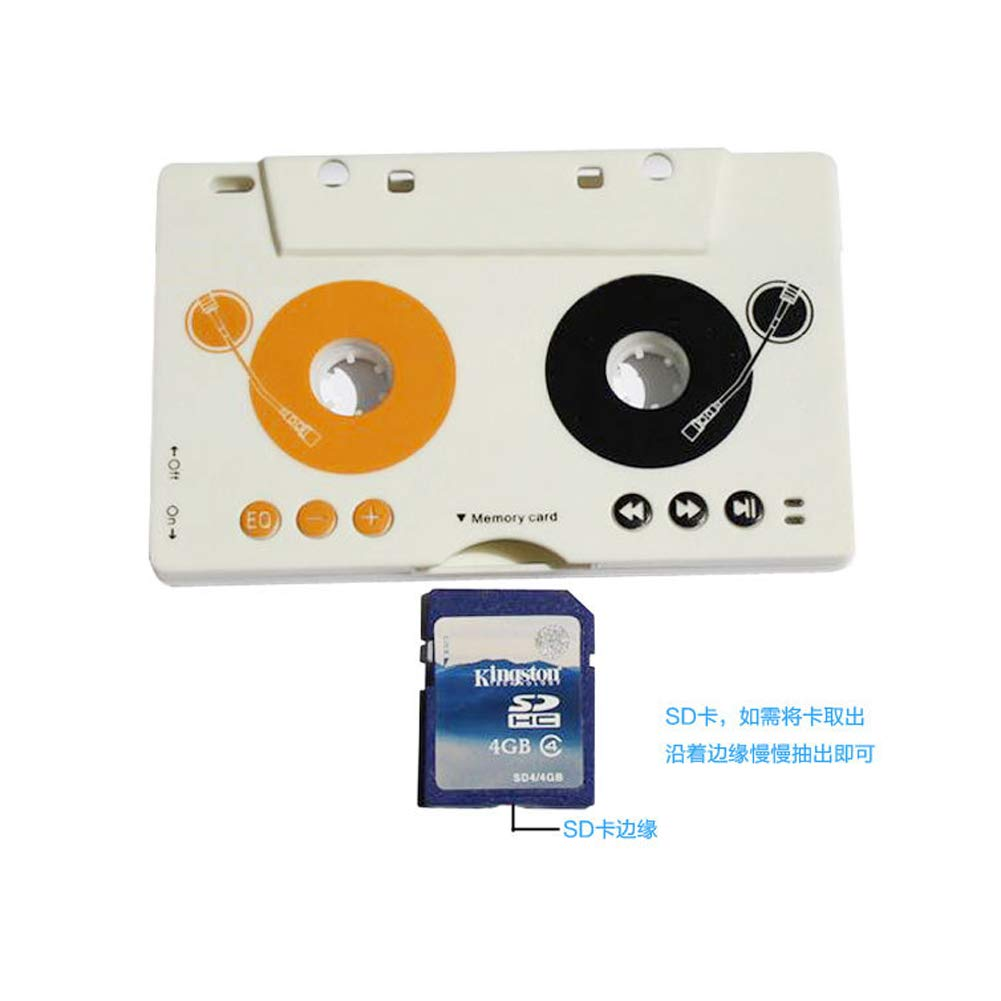 KTT Car AUX Audio Tape Cassette Adapter Converter for Car CD Radio Player MP3 Magnetic Tape Player Recorder Receiver