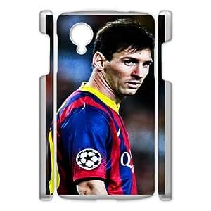 DIY Printed Lionel Messi hard plastic case skin cover For Google Nexus 5 SNQ681868