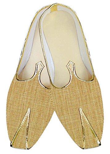 Zapatos Yute De Mj014194 Amarillo A Boda Inmonarch Mano Hombres Hechos 4tUqwRU