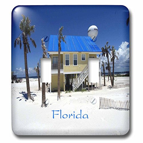 3dRose Florida - Image of Pensacola Beach - Light Switch Covers - double toggle switch - Outlets Florida Palm Beach