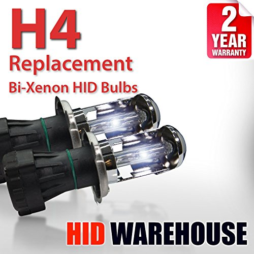Nissan Altima Replacement 1997 (HID-Warehouse AC HID Xenon Replacement Bulbs - Bi-Xenon H4 / 9003 8000K - Medium Blue (1 Pair) - 2 Year Warranty)