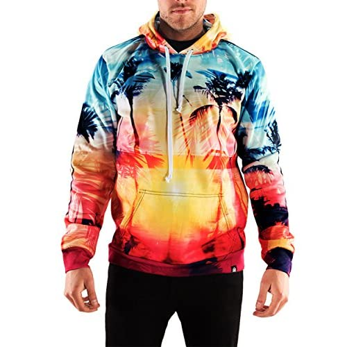 f5ab3e66935 low-cost Into The AM Coastal Dreams Collection Long Sleeve Lightweight All  Over Print Hoodie