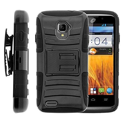 MINITURTLE Case Compatible w/ ZTE Rapido LTE Case, ZTE Rapido LTE Holster, layer Hybrid Armor Hard Cover w/ Stand for ZTE Rapido LTE Z932L - - Phone Zte Cover Lte For Rapido