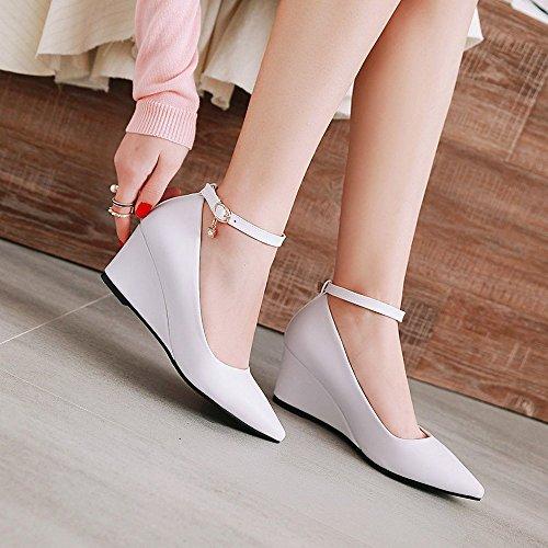 Keilabsatz KUKI Schuhe und Frühling White Trade Schuhe Frauen Heel Schuhe Damenschuhe Schnalle Damenschuhe Herbst Wies High nArAYqwU