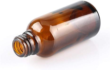 4 Paquets 30ML Bouteilles en Verre vides de Couleur Marron avec Compte-Gouttes en Verre Bouchon inviolable avec 2 Compte-Gouttes suppl/émentaires et 2 entonnoirs pour Le Parfum