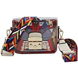 Crossbody Bags for Women Abstract Geometry Graphic Clear Messenger Bag Adjustable Shoulder Strap