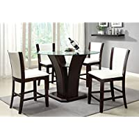 247SHOPATHOME Idf-3710WH-PT-5PC Dining-Room-Sets, White