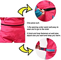 Mous One Ski Suit Women Rose Red Snowsuit Winter Outdoor Waterproof Insulated Coverall Suit with Reflector for Female