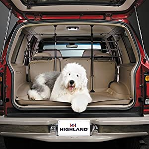 Highland 2004500 Black Universal Pet Barrier, Fully Adjustable Car Organizer