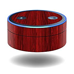 MightySkins Protective Vinyl Skin Decal for Amazon Echo Dot (1st Generation) wrap cover sticker skins Cherry Grain