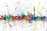 Berlin Skyline - Berlin, Germany - Pop-Art Poster / Print (Watercolor Painting By Michael Tompsett)