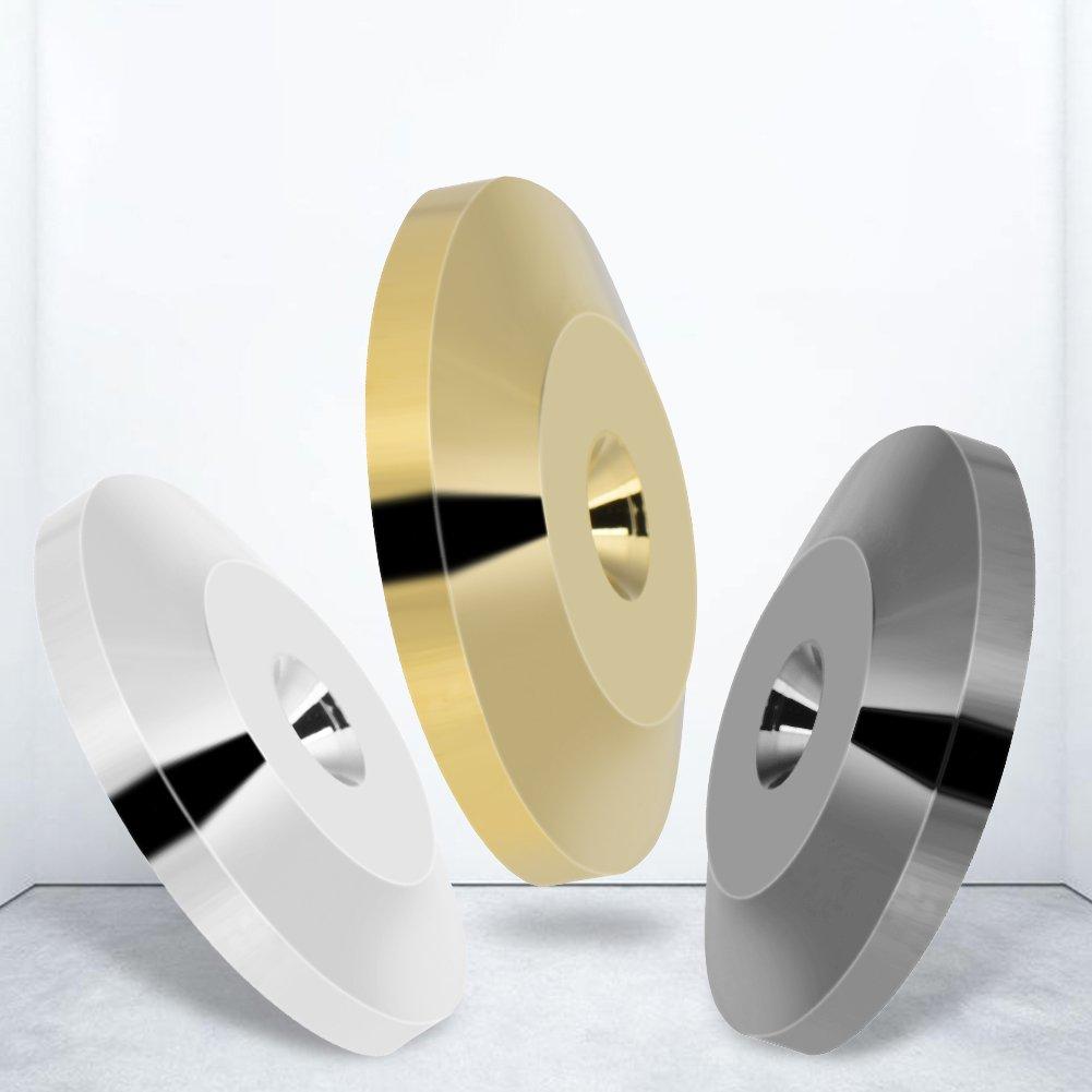 Plateado Almohadilla de Base de Choque del Altavoz 8 Piezas 25 x 4 mm Coj/ín de Base de Choque Universal de Cobre Pies de Aislamiento Tapete Disco de Piso