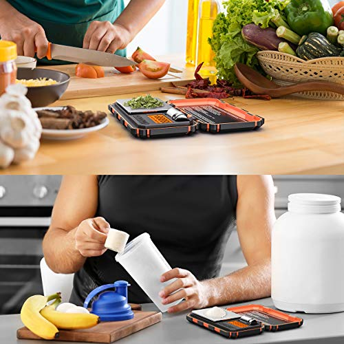 (2020 New) Digital Pocket Scale, 200g-0.01g Mini Scale, Highly Accurate Multifunction with Premium Stainless Steel Finish, LCD Backlit Display, 6 Units, Auto Off, Tare (Orange,Battery Included)