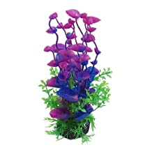 Uxcell Jardin Landscaping Water Plant Decoration for Aquarium, 8.3-Inch, Purple/Green