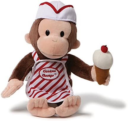GUND Curious George with Ice Cream Stuffed Animal Toy, 13″
