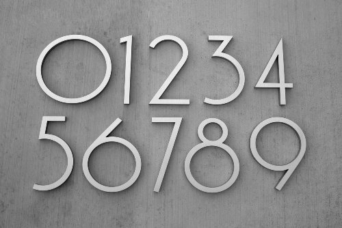 Modern House Number Aluminum Contemporary Font Number
