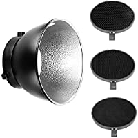 Neewer 7inch/ 18cm Standard Reflector Diffuser with 20/40/60 Degree Honeycomb Grid for Bowens Mount Studio Light Strobe Flash