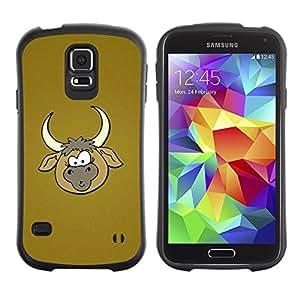 """Hypernova Slim Fit Dual Barniz Protector Caso Case Funda Para Samsung Galaxy S5 [Vaquero Granja historieta de Brown""""]"""
