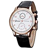 Womens Watch Retro Design Leather Band Analog Alloy