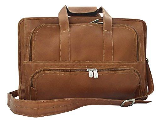 Piel Leather Half-Moon Portfolio, Saddle, One Size