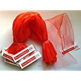 """100 pcs Red Net Mesh Bags 25"""", for Produce, Vegetables, Seafood. Reusable Netting."""
