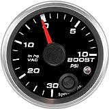 Speedhut GR20-BV03 Boost/Vac Gauge 30inhg-0-10psi (With Warning LED), 2-1/16''