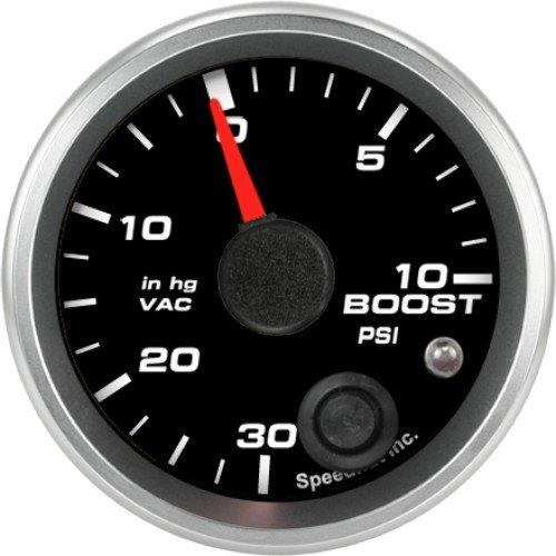 Speedhut GR20-BV03 Boost/Vac Gauge 30inhg-0-10psi (With Warning LED), 2-1/16'' by SpeedHut