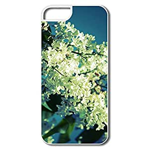 IPhone 5 5s Case Shell White Lilac,Customize Your Own Cool Skin For IPhone 5s