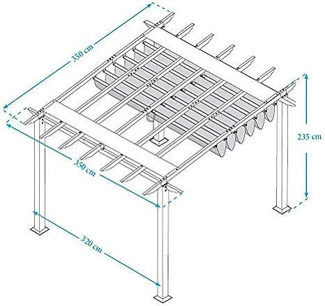 Paragon Outdoor PR11WD2C Estructura de patio trasero Soft Top con marco Ipe chileno Valencia pérgola, 11 x 11 Cacao: Amazon.es: Jardín