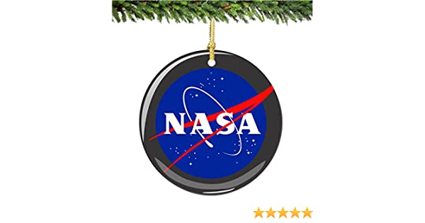 Amazon.com: NASA Christmas Ornament, Porcelain 2.75 Inch Christmas Ornament:  Home & Kitchen - Amazon.com: NASA Christmas Ornament, Porcelain 2.75 Inch Christmas