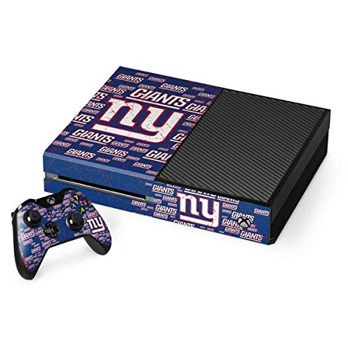 Skinit NFL New York Giants Xbox One Console and Controller Bundle Skin - New York Giants Blast Design - Ultra Thin, Lightweight Vinyl Decal Protection by Skinit