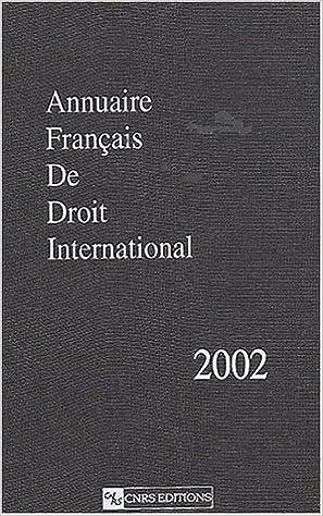 Livres Annuaire français de droit international, numéro 48 - 2002 pdf epub