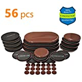 Furniture Sliders X-PROTECTOR GIANT PACK 56 PCS: 20 pcs Furniture Sliders For Carpet & Felt Sliders + 36 Furniture Pads. BEST Set of Reusable Furniture Movers Sliders for ALL Surfaces!