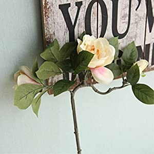 FYYDNZA Artificial Flowers 1Pc Diy Wedding Decoration Fake Flowers Gardenia Flowers Flower Home Decoration Artificial Plants 106