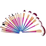 Unicorn Makeup Brush Sets with a Roll Case