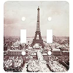 3dRose lsp_77453_2 The Paris Exposition 1900 Eiffel Tower Light Switch Cover