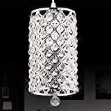 (US Stock)Modern Contemporary Crystal Pendant Lights,Hanging Ceiling Light Pendant Lamp Fixture Lighting Chain Chandelier for Hallway, Bar, Kitchen, Dining Room, Kids Room